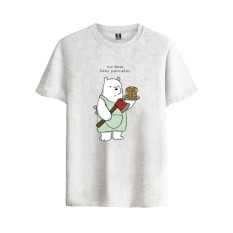 Best Rated Animated Sitcom We Bare Bears Funny The Three Bare Bears Men Tshirt Causal Cotton Man Short Sleeve T Shirts Grey Intl