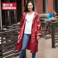 Sale Ann Riding Shishang Men And Women Walking Travel Electric Car Raincoat Long Coat Aubergine On China