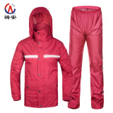 An Fashion Motorcycle Single Waterproof Electric Raincoat *D*Lt Raincoat Purplish Red Color Breathable Reflective Strip Purplish Red Color Breathable Reflective Strip Lower Price