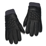 Anti Slip Men Thermal Winter Sports Leather Touch Screen Gloves Black Intl Shopping