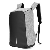Best Rated Anti Theft Anti Cut Casual Travel Work Smart Backpack Usb Port Water Repellent Grey Intl
