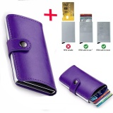 Buy Anti Theft Men Leather Wallet With Mini Rfid Wallets Automatic Business Blocking Travel Card Holder Pop Up Case Credit Card Protector Case Purple Intl Online