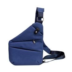 Anti-Theft Multifunctional Digital Storage Men Waist Crossbody Chest Bags(Blue) - intl