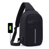 Review Anti Theft Waterproof Chest Pack Reflective Shoulder Bags Handbags Business Basual Canvas Bag With Usb Interface Intl Oem On China