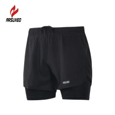 Buy Arsuxeo Men S 2 In 1 Running Shorts Quick Drying Breathable Active Training Exercise Jogging Cycling Shorts With Longer Liner Intl Cheap China