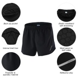 Price Arsuxeo Men S 2 In 1 Running Shorts Quick Dry Marathon Training Fitness Running Cycling Sports Shorts Trunks Intl Online China