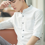Compare Price Artistic Cotton Summer Slim Fit Shirt Short Sleeved Men S Shirt White Oem On China