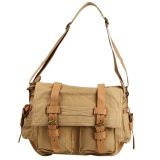 Price Augur 2138 Men Vintage Canvas Leather Satchel Messenger Bag Singapore