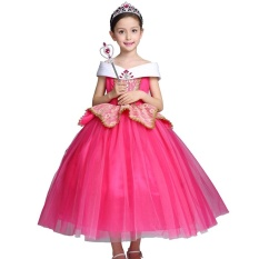 Buy Aurora S High Quality Party Show Pop Princess Dresses Color Rose Red Intl Kisnow