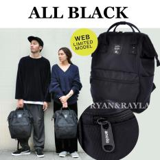Top Rated Authentic Anello Backpack 2017 Web Limited Model All Black Ec B001