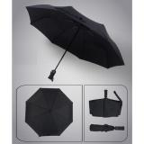 Sale Auto Open Close Fold Telescopic Umbrella Windproof Reinforced Ribs Travel Outdoor Umbrella Black Intl China