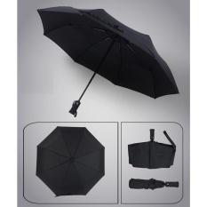 Review Auto Open Close Fold Telescopic Umbrella Windproof Reinforced Ribs Travel Outdoor Umbrella Black Intl Oem On China