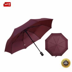 5702201681d5 Automatic Travel Umbrella Auto Open Close Waterproof Windproof Compact  Folding ( Red Wine) - intl