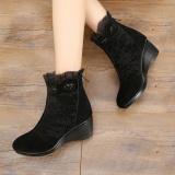 Price Autumn And Winter Casual Leather Female Round Women S Boots Short Boots Black Velvet In Oem Online