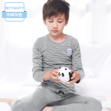 Discount Autumn And Winter Cotton Boy S Teenager Thin Pajamas Children S Heattech M173A277 In Heather Grey Oem China