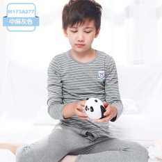 Compare Price Autumn And Winter Cotton Boy S Teenager Thin Pajamas Children S Heattech M173A277 In Heather Grey Oem On China