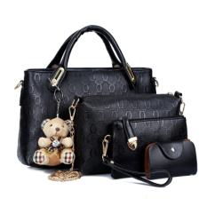Buy Women S Stylist 4 Piece Bags Black Black Other Cheap
