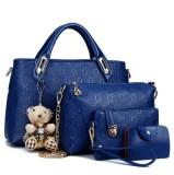 Cheapest Women S Stylist 4 Piece Bags Blue Blue