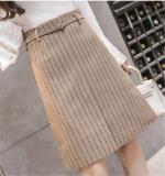 Cheaper Korean Style Woolen Spring And Autumn New Style Sheath Skirt A Line Dress Khaki