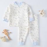 Baby Thin Thermal Underwear Baby Pajamas Light Blue Reviews