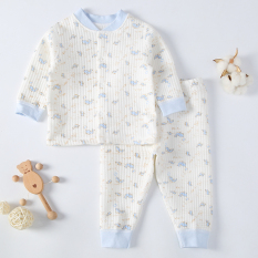 Price Comparisons For Baby Thin Thermal Underwear Baby Pajamas Light Blue