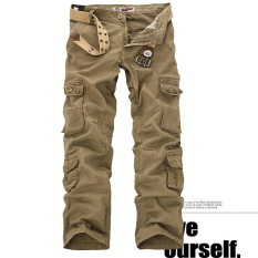 Sale Winter L Pockets Pants For Men Cargo Pants 05 Paragraph Yellowish Brown 05 Paragraph Yellowish Brown China Cheap