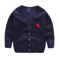 Price Comparisons Autumn Children S Clothes Solid Long Sleeve Cotton Baby Boys Cardigan Sweaters For Boys Kids Causal Knitted Sweaters Tops Intl
