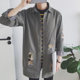 Get Cheap The Trend Of Spring And Autumn New Original Trench Coat Gray Gray