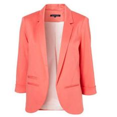Buy Autumn Fashion Women 7 Colors Slim Fit Blazer Jackets Notched Three Quarter Sleeve Blazer Pink Oem