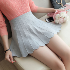 Price Comparisons Korean Style Autumn New Style Slim Fit Pleated Dress Gray Gray