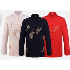 Price Autumn Long Sleeve Traditional Chinese Tang Fu Top Men Kung Fu Tai Chi Clothes Intl Hengyun New