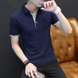 Sale Autumn New Men Long Sleeve Polo Shirt T Shirt Blue Gray Blue Gray Other Branded
