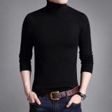 List Price Men S Korean Style Slim Fit Turtle Neck Longsleeve Thin T Shirt Solid Color Black Black Other