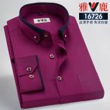 Where Can I Buy Spring Non Iron Stretch Zuan Kou Shirt Wine Red Color