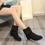 Sale Autumn Winter Boots Women Sweet Boot Stylish Flat Flock Shoes Snow Boots Bk 35 Intl Online China