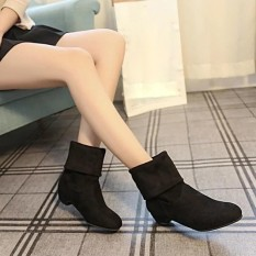 Best Deal Autumn Winter Boots Women Sweet Boot Stylish Flat Flock Shoes Snow Boots Bk 35 Intl