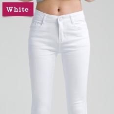 Get Cheap Autumn Winter Women New Slim Pencil Pant Casual Cotton Trousers White Intl