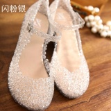 Sale Autumn Women Wedding Shoes Bowtie Crystal Wedges Pumps White Bridal Shoes Medium Heels Dress Shoes Zapatos Mujer Female Causal Shoes Intl Oem Cheap