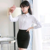 Review Autumn Women S Long Sleeved Shirt White Professional Wear Backing Slim Long Sleeved Shirt Blouse Overalls Mmm Store K000156 White Intl No Brand On China
