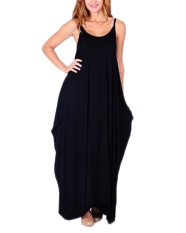 Sale Auxo Women S Summer Casual Sleeveless Beach Dress Maxi Long Dresses Black Intl Not Specified Original