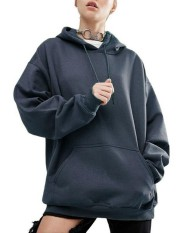 Sale Auxo Womens Hoodie Sweatshirt Sweater Ladies Casual Pullover Jumper Top Blouse Shirt Dark Blue Intl Auxo On China