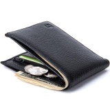 Baborry Men Short Bifold Genuine Leather Wallet Coin Purse Black Intl China