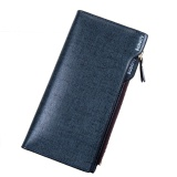 Buy Baborry Mens Long Wallet High Quality Men S Soft Pu Leather Bifold Wallet With Zipper(Blue) Intl