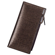 Retail Baborry Mens Long Wallet High Quality Men S Soft Pu Leather Bifold Wallet With Zipper(Gold) Intl