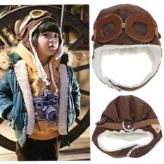 59f95c259f Baby Boy Girl Kids Toddler Pilot Aviator Warm Winter Cap Hat Beanie Cool  Earflap Brown -