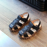 Baby Child Boys Kids Summer Leather Sandals Sch**l Shoes Soft Sole High Quality I120 Color Black Intl Promo Code