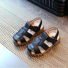 Buy Baby Child Boys Kids Summer Leather Sandals Sch**l Shoes Soft Sole High Quality I120 Color Black Intl Cheap On China