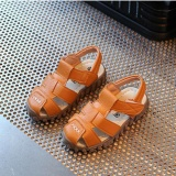 Baby Child Boys Kids Summer Leather Sandals Sch**L Shoes Soft Sole High Quality I120 Color Brown Intl Oem Discount
