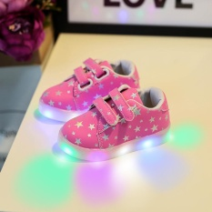 Compare Prices For Baby Fashion Sneakers Led Luminous Child Toddler Casual Colorful Light Shoes Intl