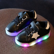 Baby Fashion Star Sneaker Led Luminous Child Toddler Casual Light Shoes Intl In Stock